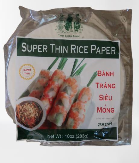 Three Ladies Super Thin Rice Paper 10 Oz