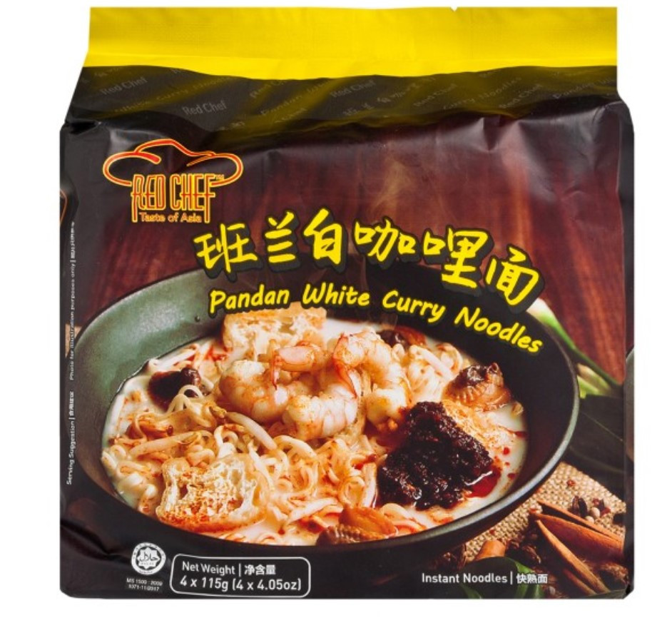 RED CHEF Pandan White Curry Noodles 4 Packs