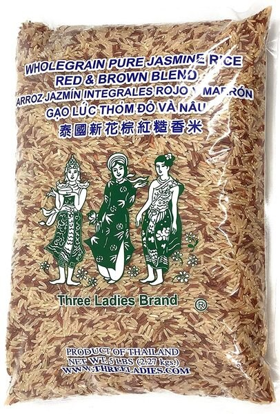 3 Ladies Jasmine Rice Red & Brown Blnd 5 Lbs