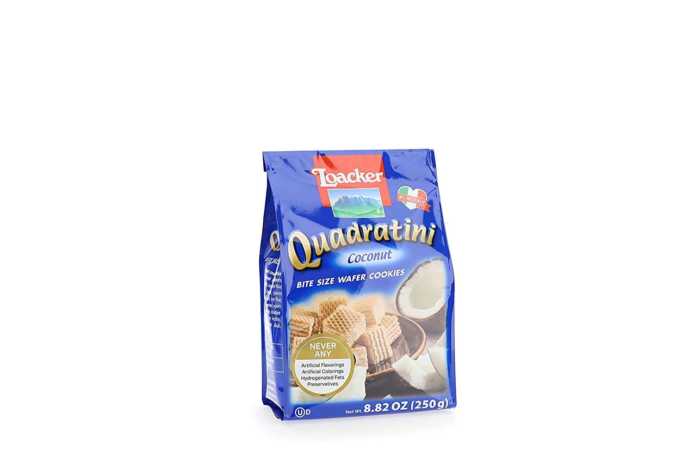 LOACKER Quadratini Coconut Wafer Cookies 8.82 Oz