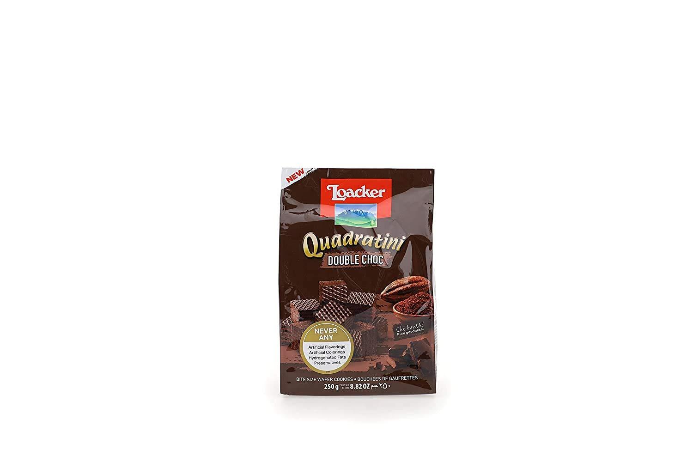 LOACKER Quadratini Double Choc Wafer Cookies 8.82 Oz
