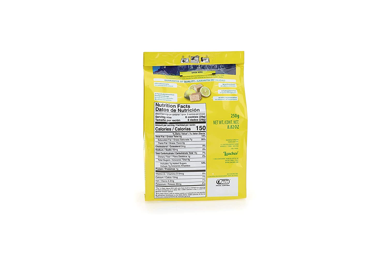 LOACKER Quadratini Lemon Wafer Cookies 8.82 Oz