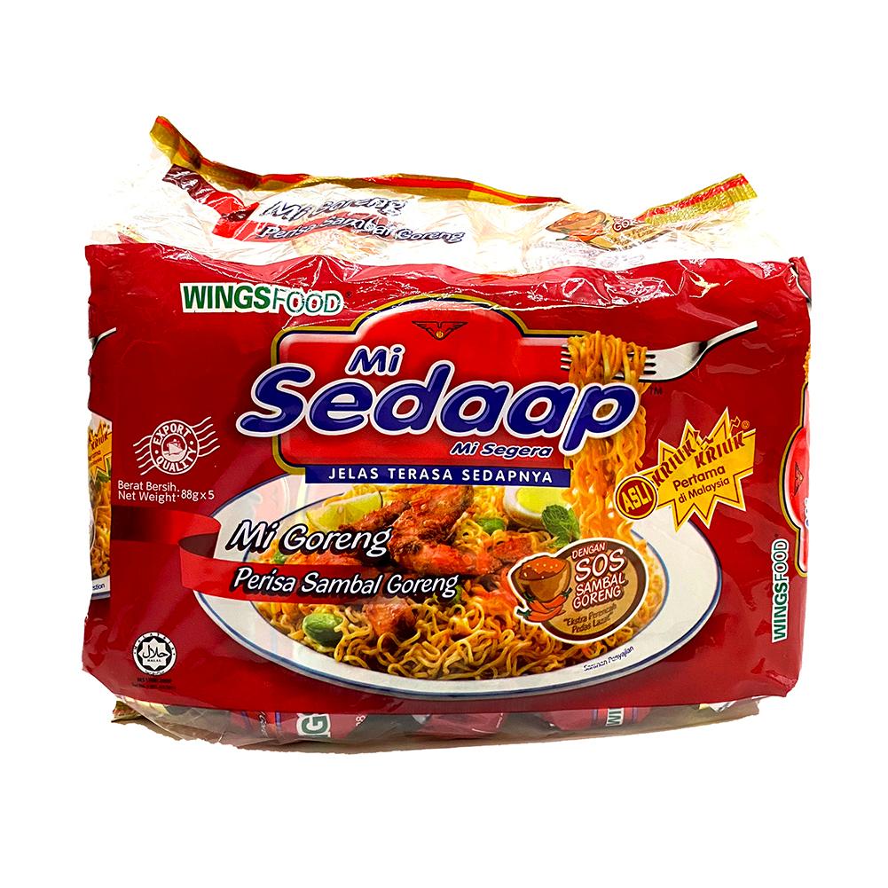 WINGSFOOD Mi Sedaap Hot & Spicy Fried Noodles 5 Packs
