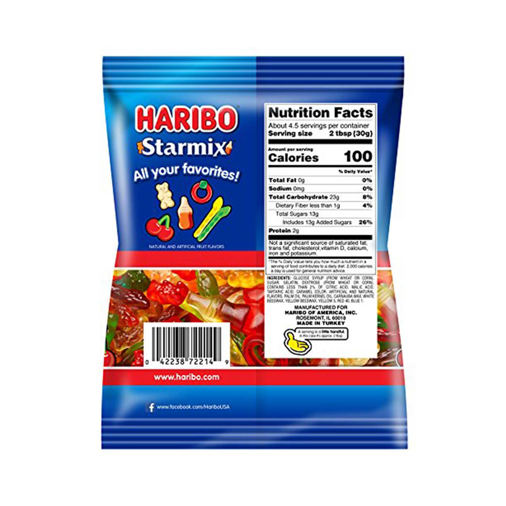 HARIBO Gummy Candy Starmix 5 Oz