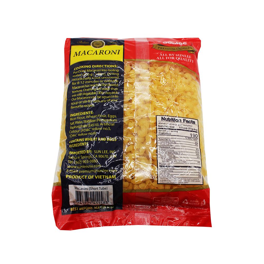 SUNLEE Macaroni (Short Tube) 14.1 OZ