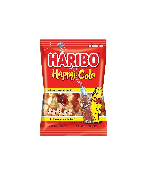 HARIBO Gummy Candy Happy Cola 5 OZ