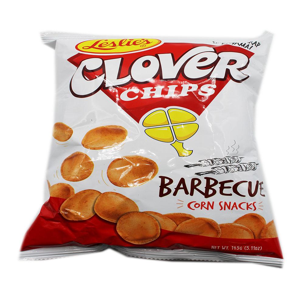 LESLIE'S Clover Chips Barbecue Corn Snacks 5.11 OZ