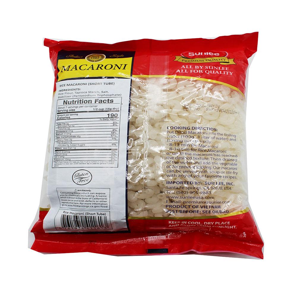 SUNLEE Rice Macaroni (Short Tube) 14.1 Oz
