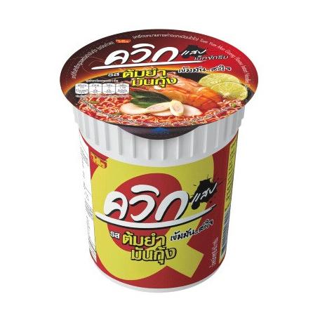 WAI WAI Quick Cup Noodles Tom Yum Mun Goong Flavor 60 G