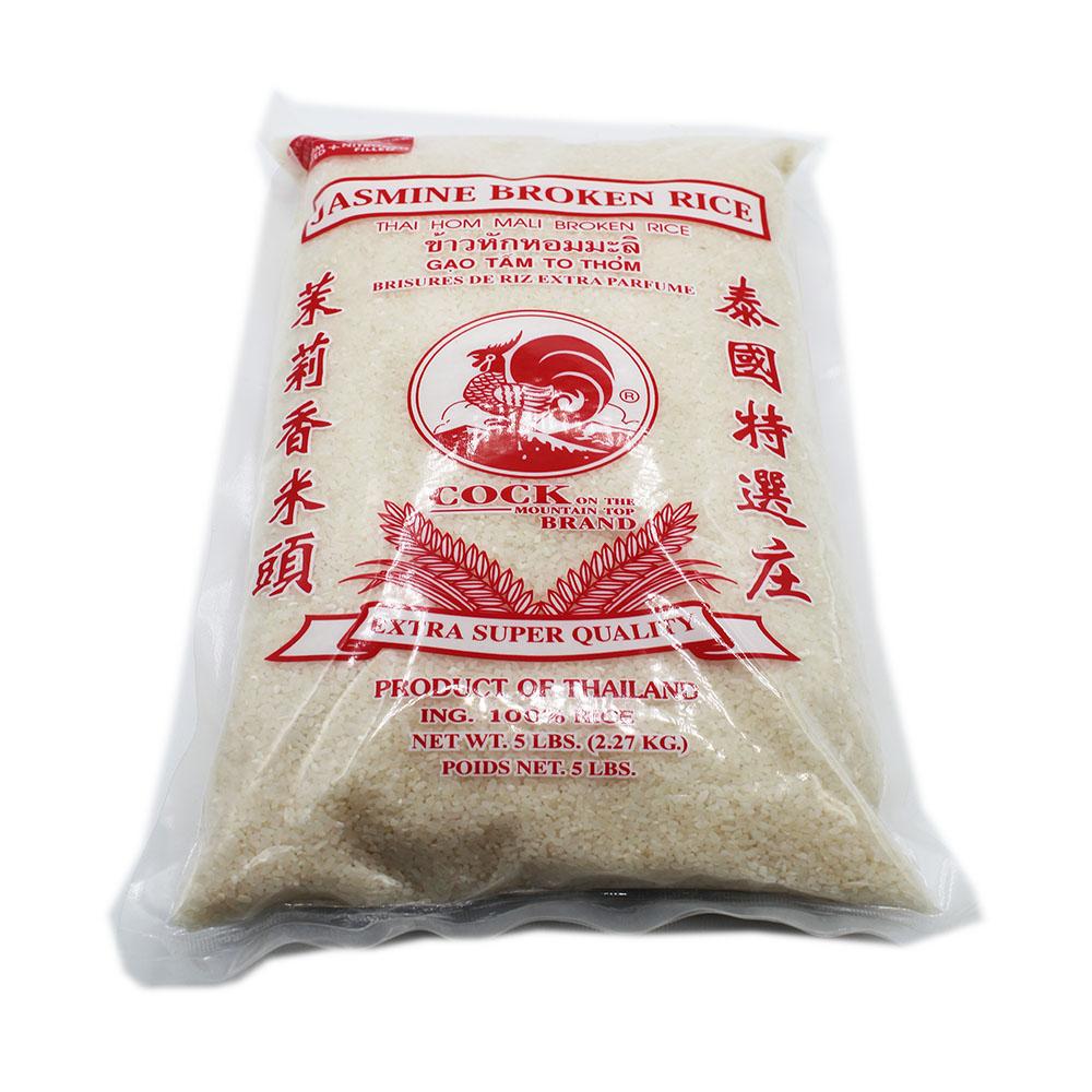 COCK BRAND Thai Jasmine Broken Rice 5 Lbs