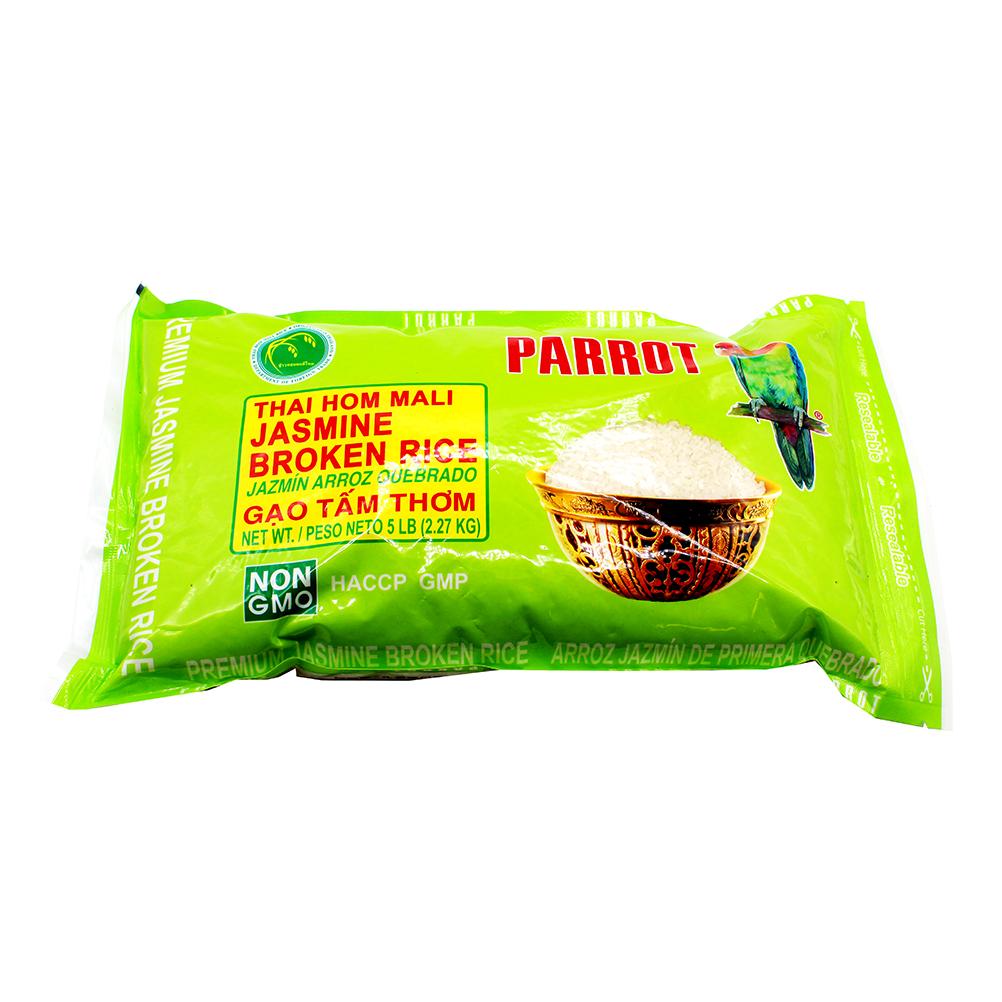 PARROT Jasmine Broken Rice / Gao Tam Thom 5 LBS