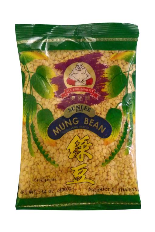SUNLEE Mung Bean Haricot Mungo Peeled 14 Oz