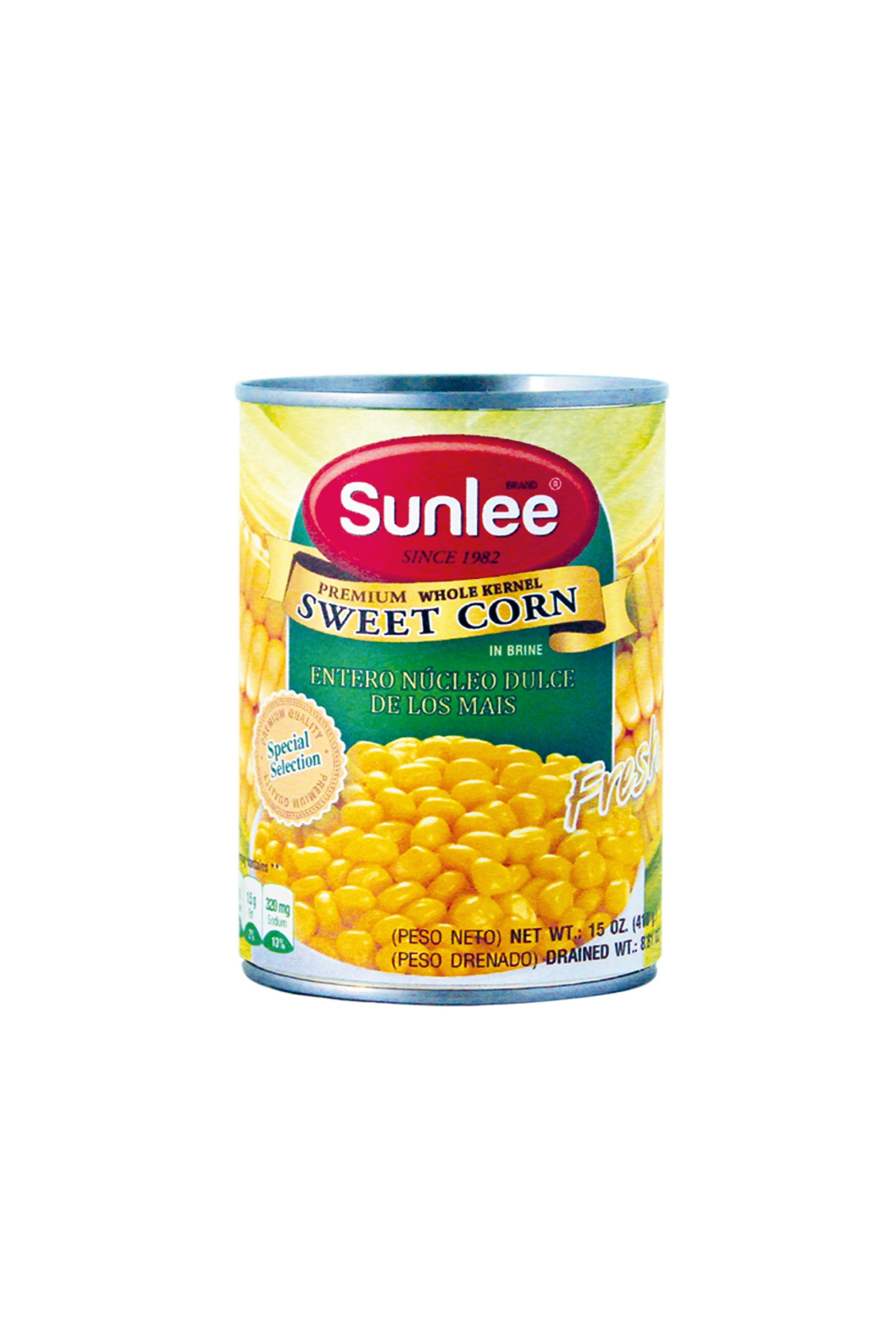 SUNLEE Whole Kernel Sweet Corn In Brine 15 OZ
