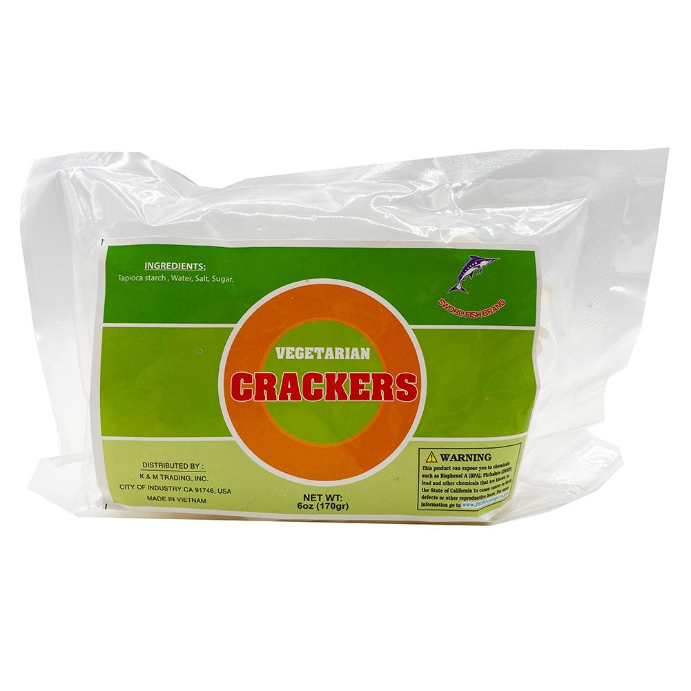 SWORD FISH Vegetarian Crackers 6 OZ