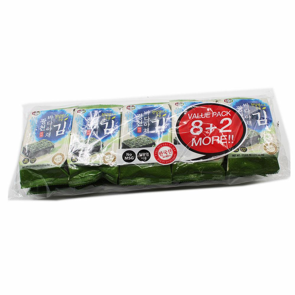 ASSI BRAND Roasted & Seasoned Tea Laver 10 Pack