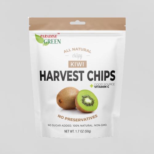 PARADISE GREEN Kiwi Chips 1.7 Oz