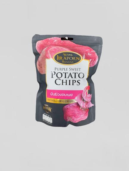 JIRAPORN Purple Sweet Potato Chips 80 G