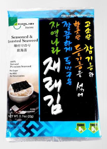 JAYONE Seasoned & Roasted Seaweed Premium Size 0.7 OZ