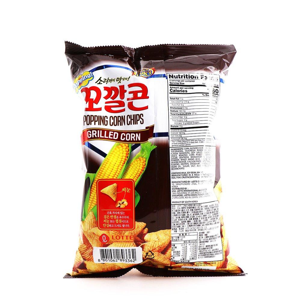 LOTTE  Popping Corn Chips Grilled Flv 5.08 Oz