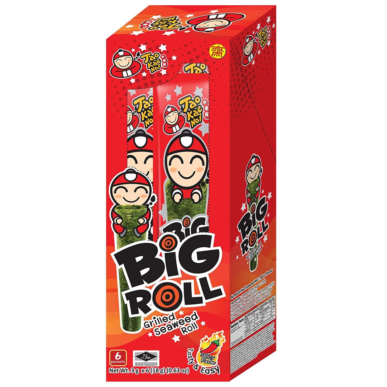 TAOKAENOI Spicy Seaweed Snack Big Roll 9 Pack