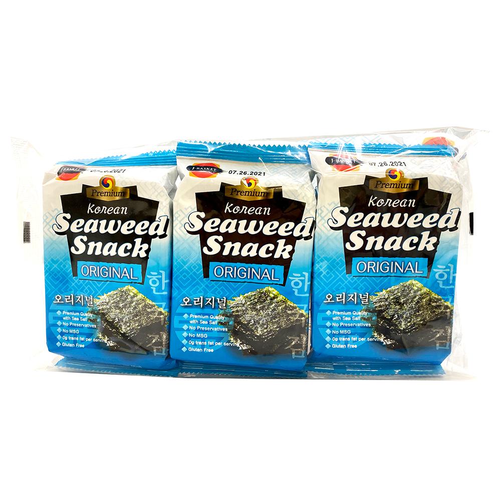 JBASKET Korean Seaweed Snack Original 3 Pack