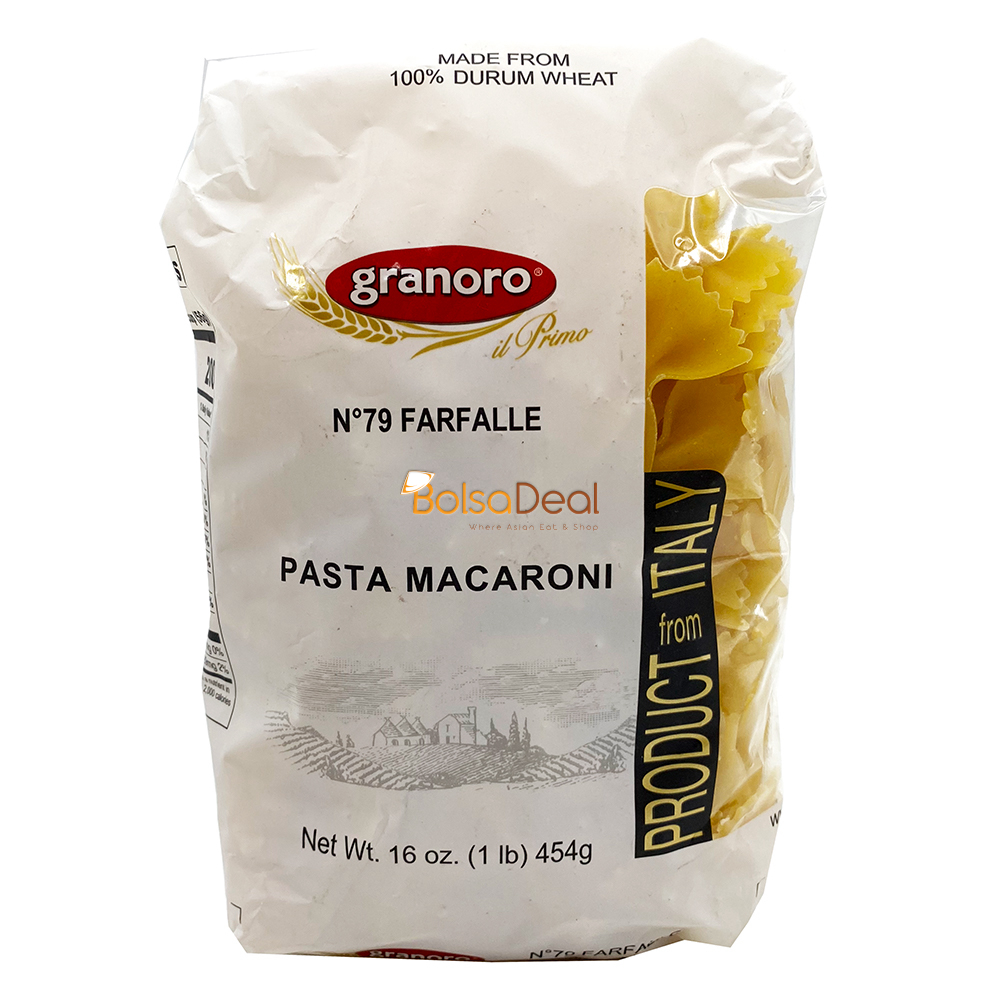 GRANORO N°79 Farfalle Pasta Macaroni 16 Oz