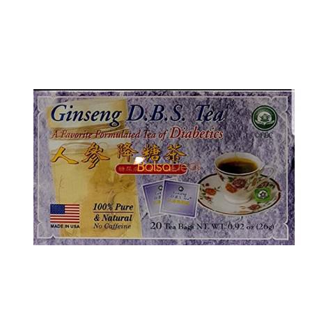 TEA POT Ginseng D.B.S Tea 20 Tea Bags