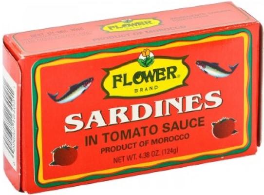 FLOWER Moroccan Sardines In Tomato Sauce 4 Oz