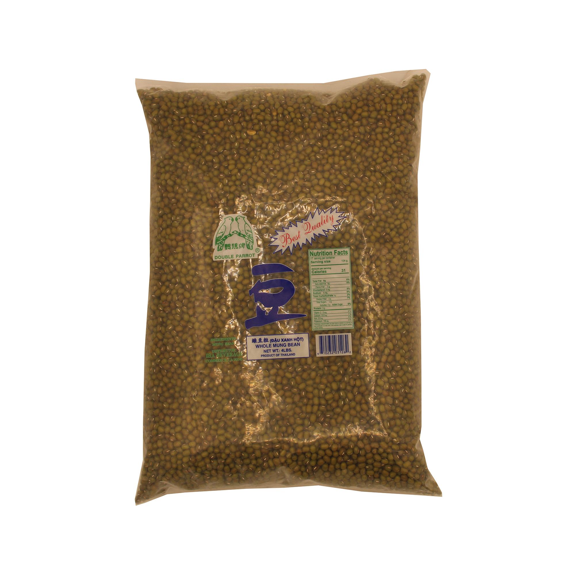 DOUBLE PARROT Whole Mung Bean / Dau Xanh Hot 4 LB