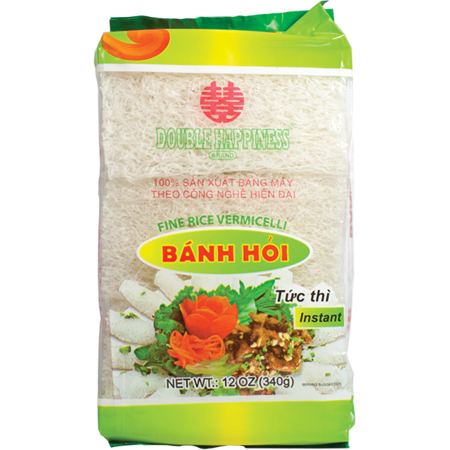 DOUBLE HAPPINESS Rice Vermicelli / Banh Hoi Song Hy 12 Oz