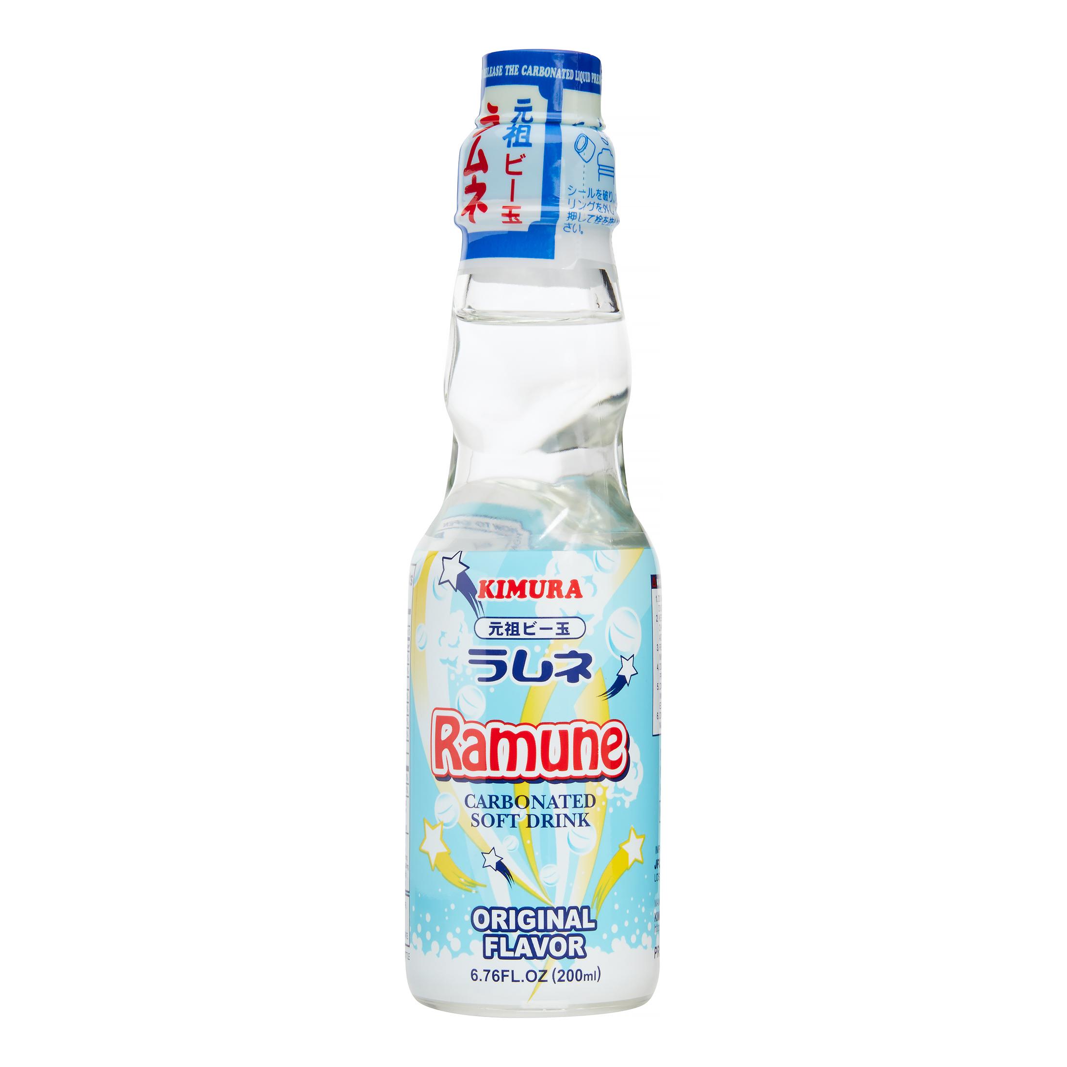 KIMURA Ramune Carbonated Soft Drink Original Flavor 6.76 oz