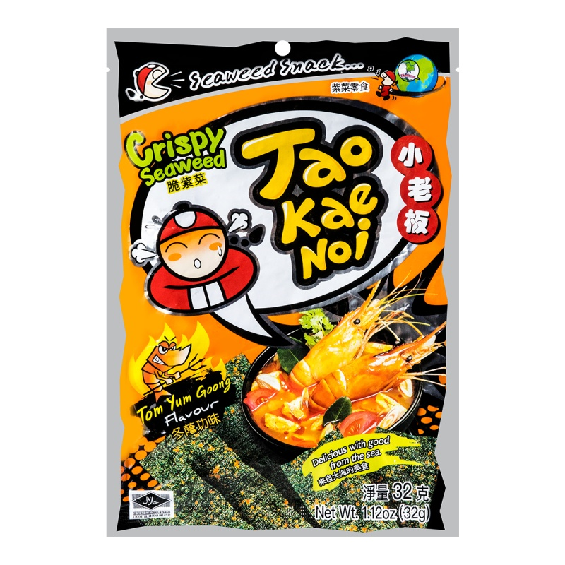 TAOKAENOI Crispy Seaweed Tom Yum Goong Flavour 1.12 OZ