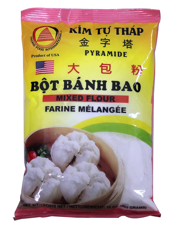 Trong Food International Pyramide Mixed Flour Bot Banh Bao 16 Oz