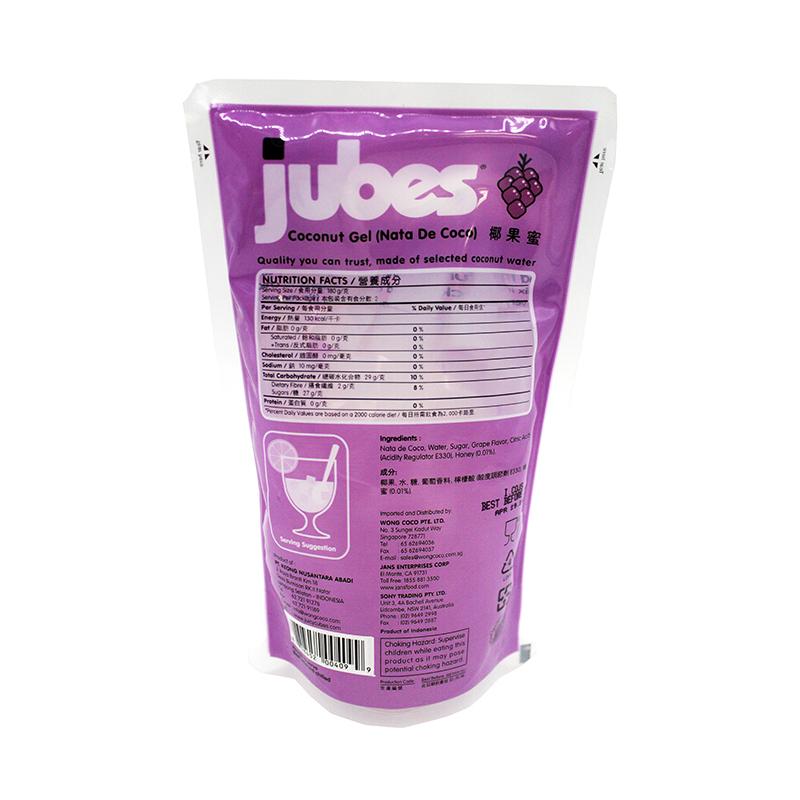 JUBES Coconut Gel Grape Flavor 12.7 OZ