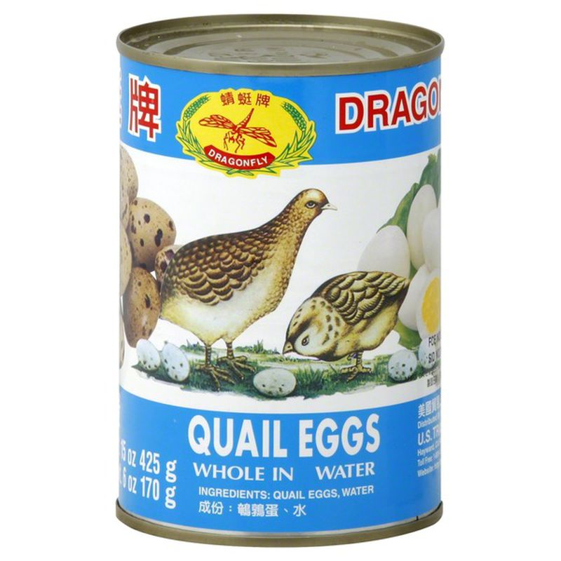 DRAGONFLY Quail Eggs Whole in Water 15 oz