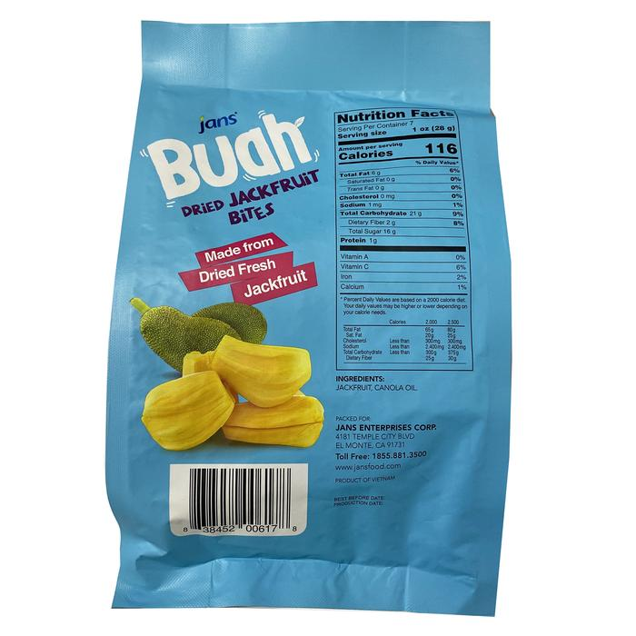 JANS Buah Dried Jackfruit Bites 7.05 OZ