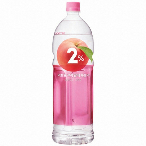 LOTTE 2% Peach Refreshing Water 1.5 Lit