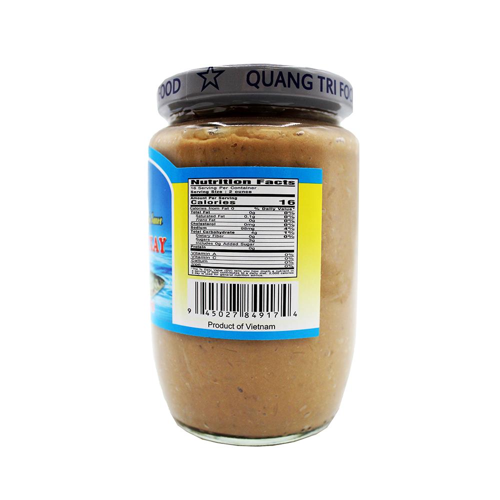 QUANG TRI FOOD Preserved Roundbelly Fish Sauce / Mam Ca Linh Xay 16 OZ