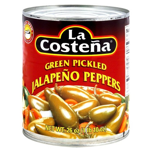 LA COSTENA Green Pickled Jalapeno Peppers 26 OZ