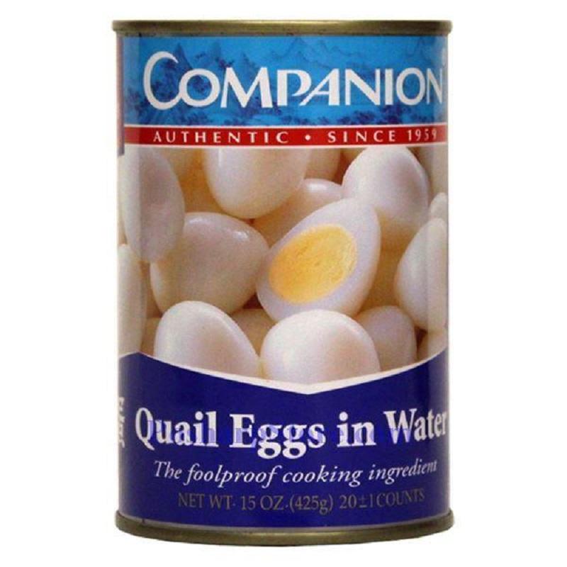 COMPANION Quail Egg in Water / Trung Cut 10 OZ