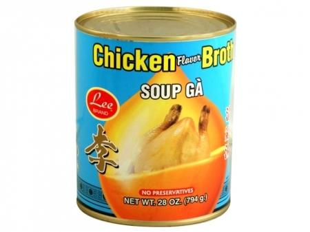 LEE Chicken Broth (L) 28 OZ