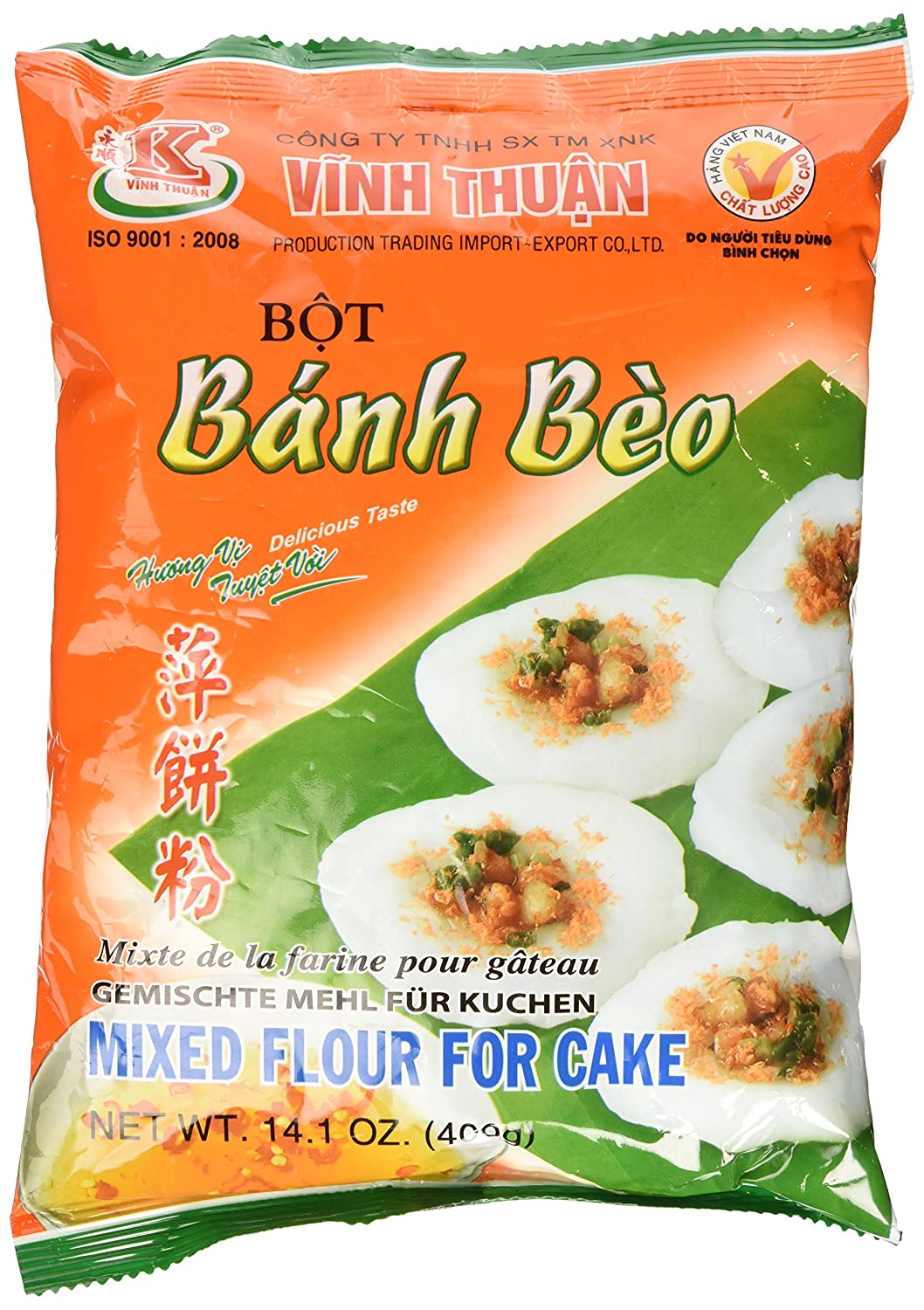 Vinh Thuan Mixed Flour For Cake / Bot Banh Beo 14.1 Oz