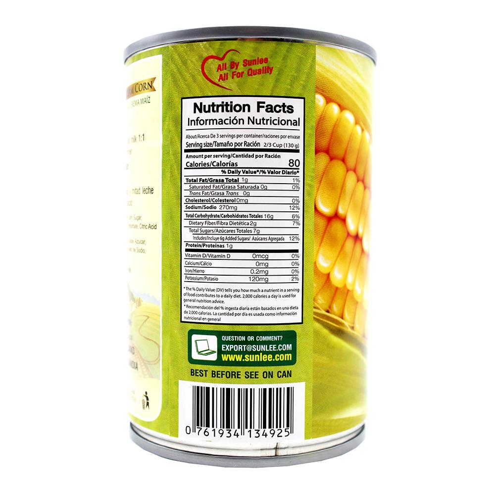 SUNLEE Cream Corn 15 Oz