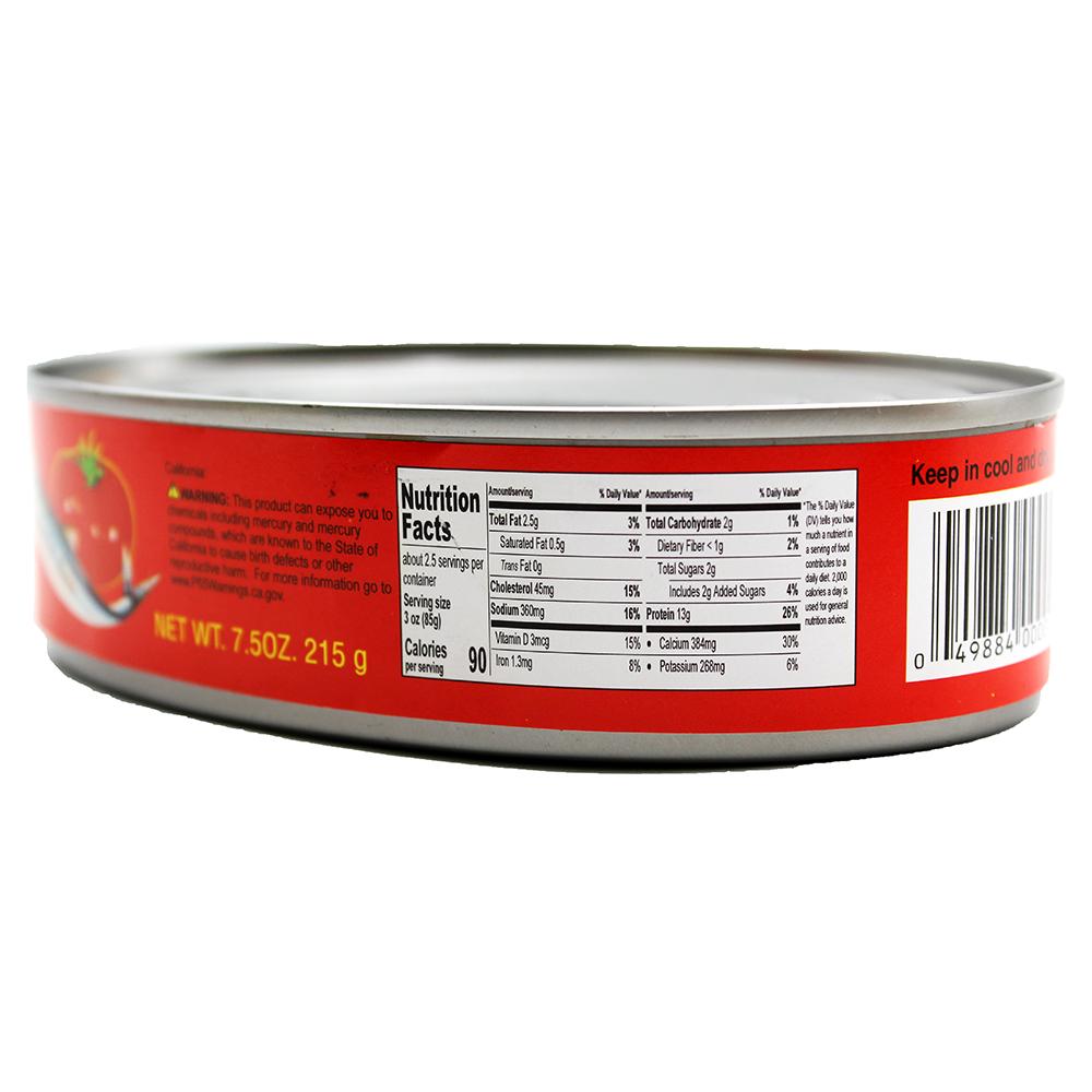 1ST OF Sardine in Tomato (S) 7.5 OZ