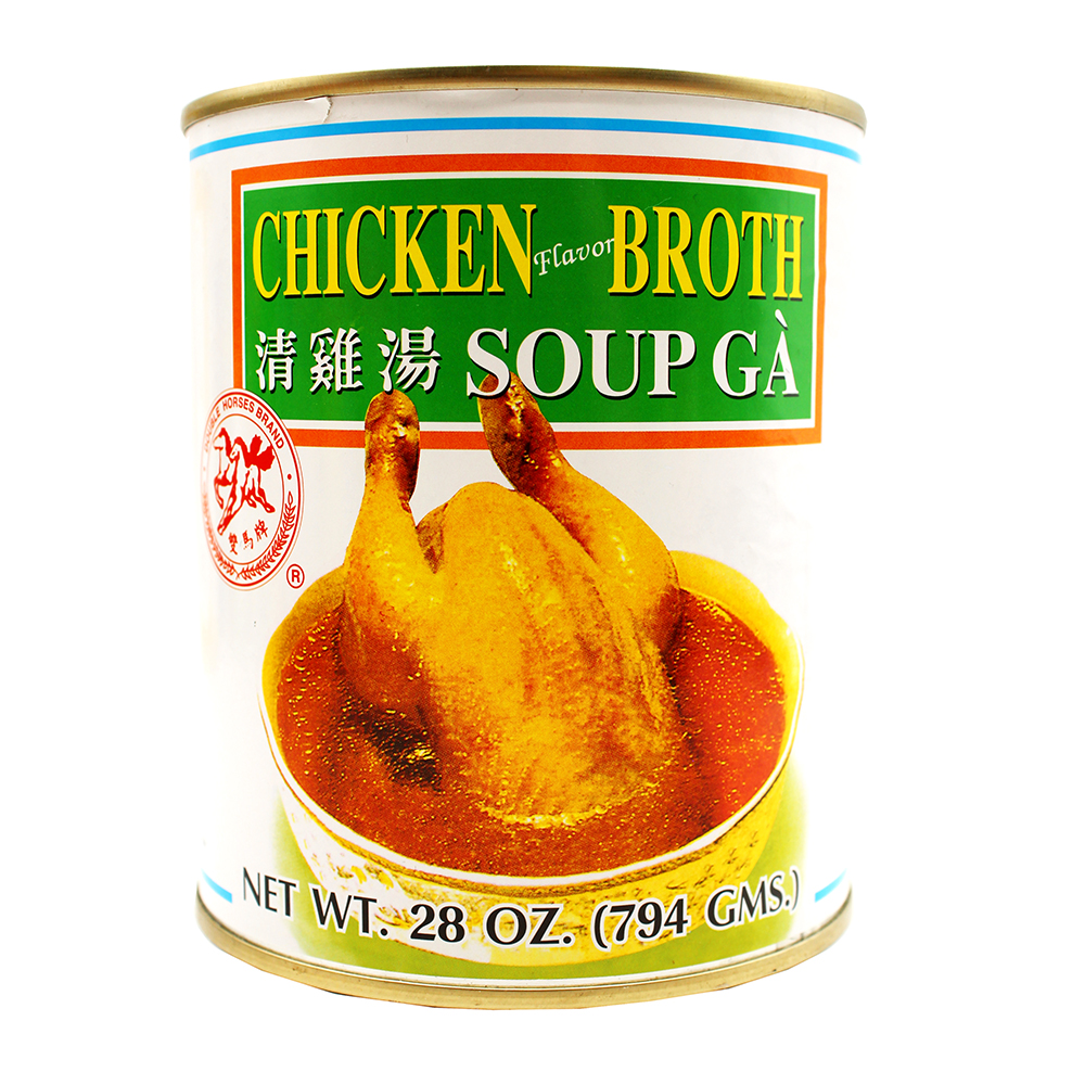 DOUBLE HORSES Chicken Flavor Broth / Sup Ga 28 OZ