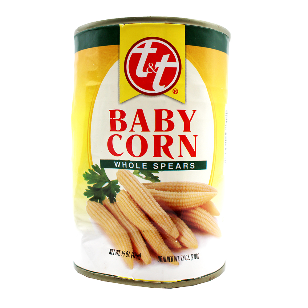 T&T Baby Corn Whole Spears 15 OZ