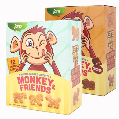 JANS Animal Shaped Biscuits Chocolate Flavour 2.6 OZ