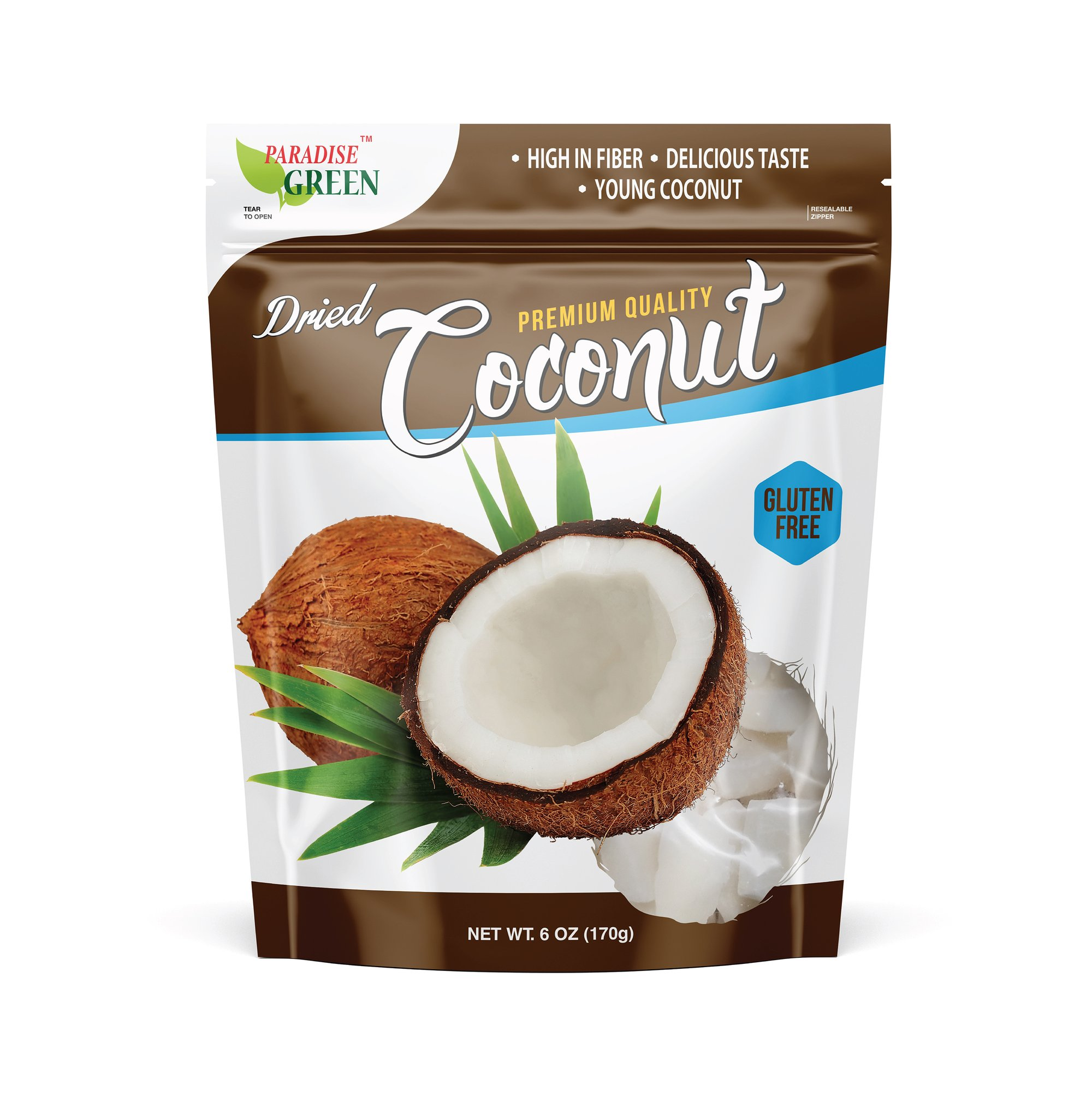PARADISE GREEN Dried Coconut 6 OZ