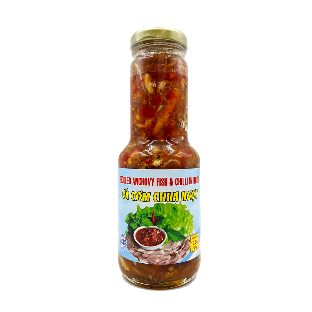 ROCKMAN Pickled Anchovy Fish & Chili In Brine  Ca Com Chua Ngot 10.6 Oz