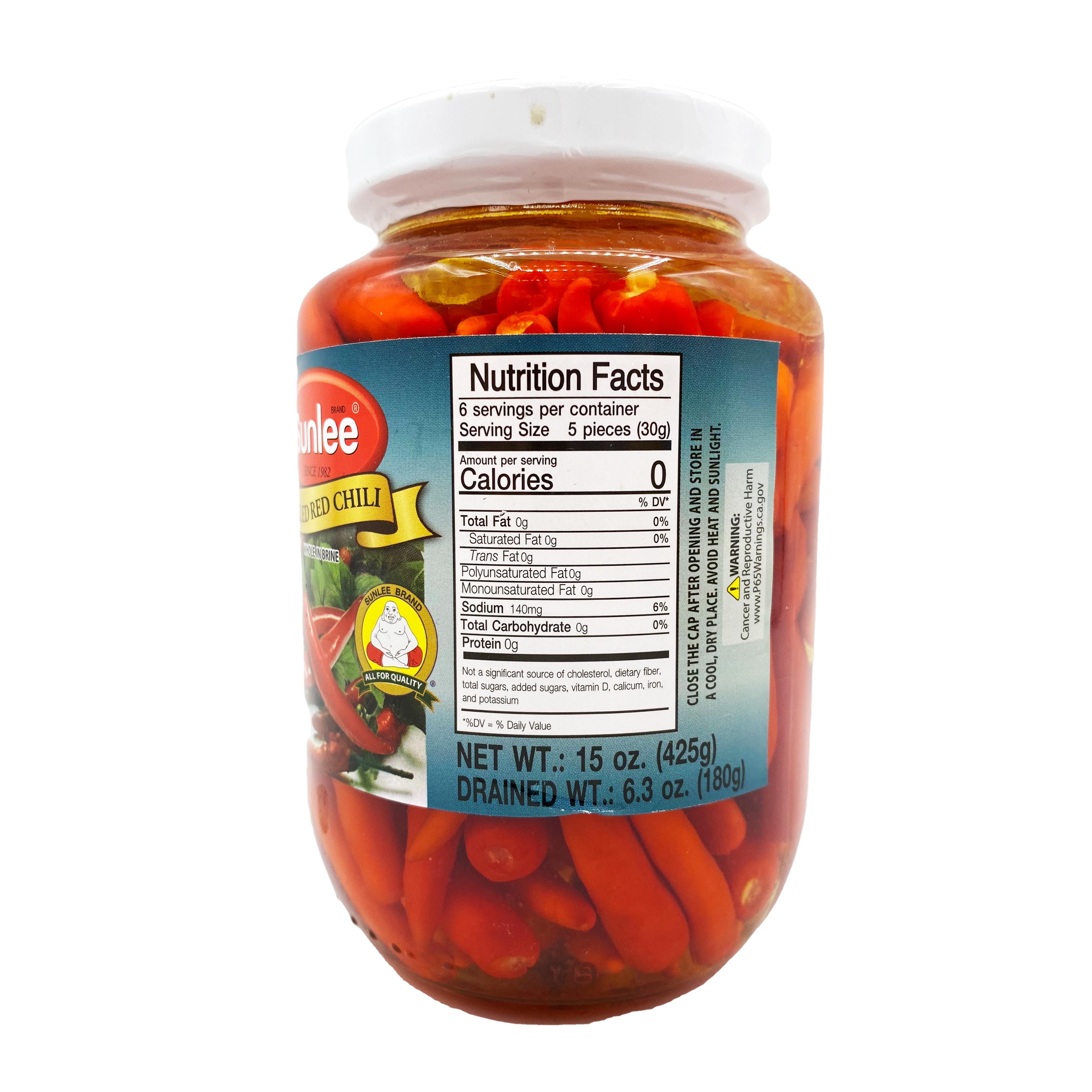 SUNLEE Pickled Red Chili In Brine 16 OZ